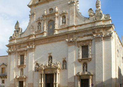 Chiesa parrocchiale Ss Pietro e Paolo facciata Galatina Lecce